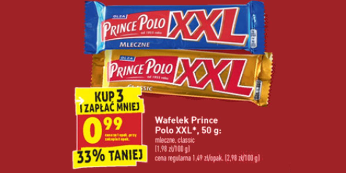 Biedronka:  -33% na wafelek Prince Polo XXL 19.04.2021