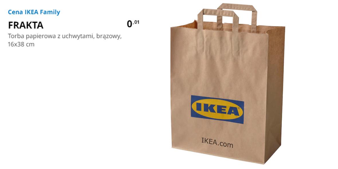 IKEA: 1 grosz za torbę papierową z uchwytami FRAKTA 15.10.2021