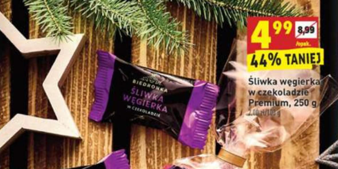 Biedronka: -44% na śliwkę węgierkę w czekoladzie 03.12.2020