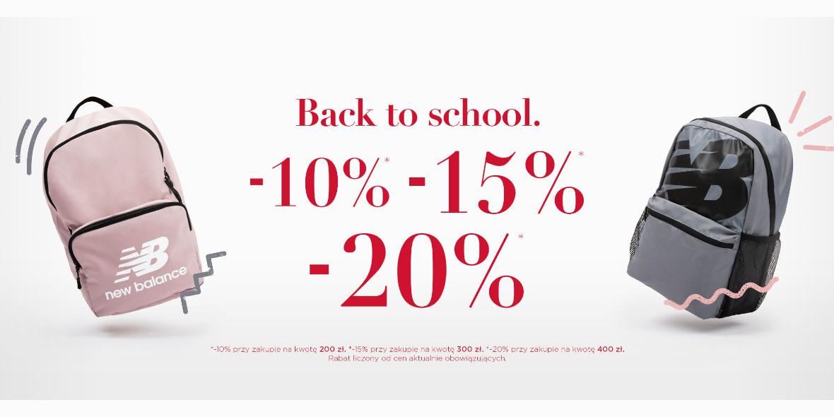 New Balance: Do -20% na wyprzedaży Back to school