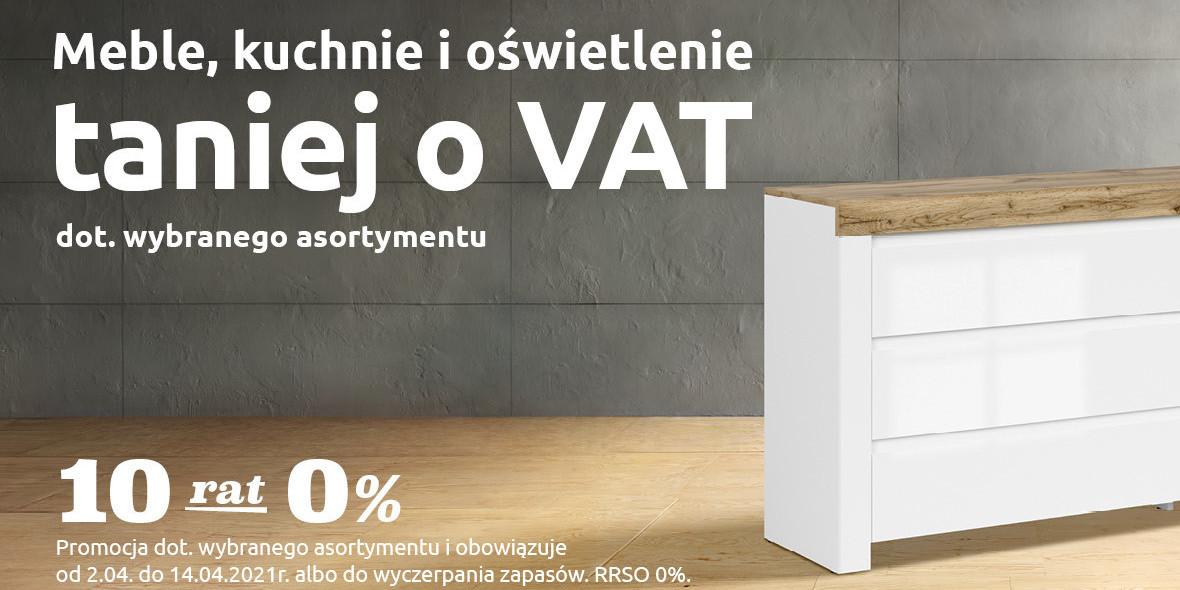 Black Red White:  Meble, kuchnie i oświetlenie taniej o VAT 01.01.0001