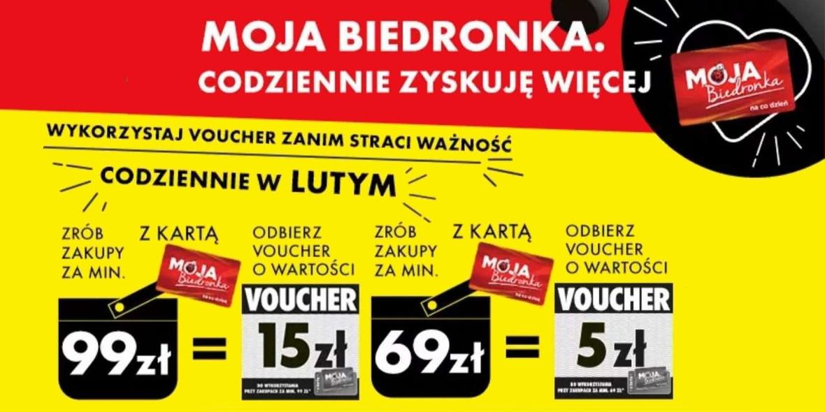 Biedronka: Do -15 zł na kolejne zakupy w Biedronce 01.02.2021