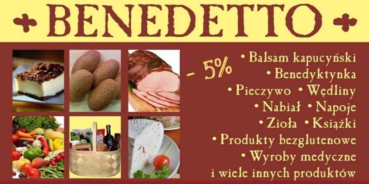 Benedetto: -5% na wszystko 23.09.2019