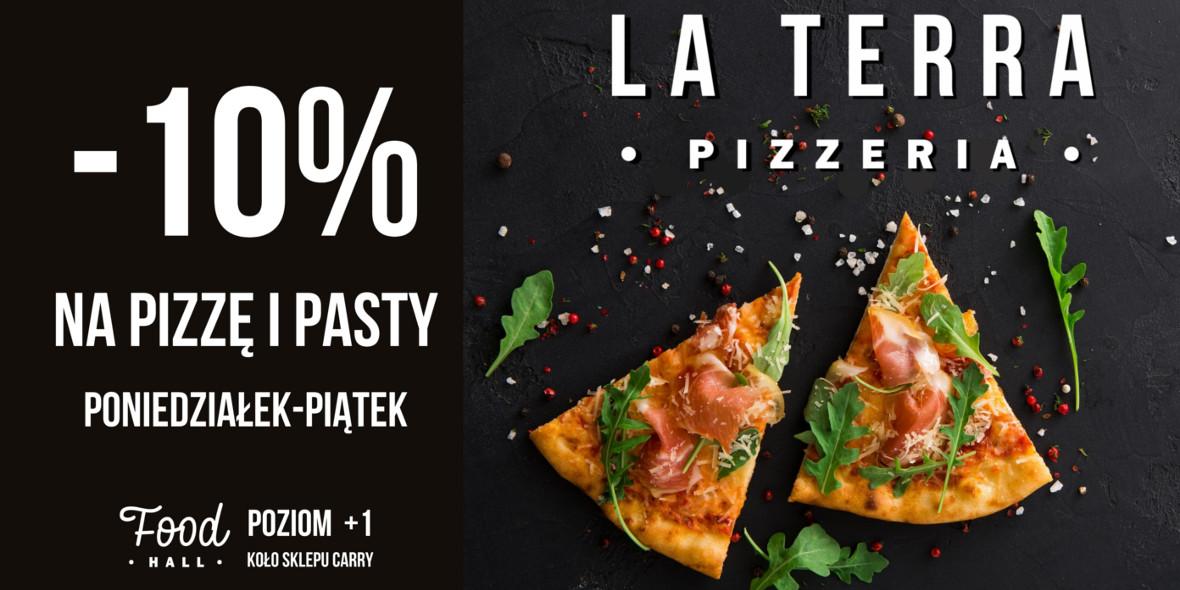 LA TERRA PIZZERIA: -10% na pizzę i pasty w La Terra Pizzeria 25.08.2020