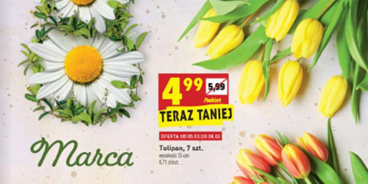 Biedronka: Od 4,99 zł za kwiatki na Dzień Kobiet 05.03.2021
