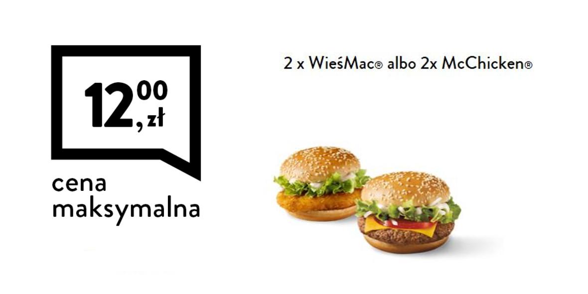 2 x WieśMac® albo 2 x McChicken®