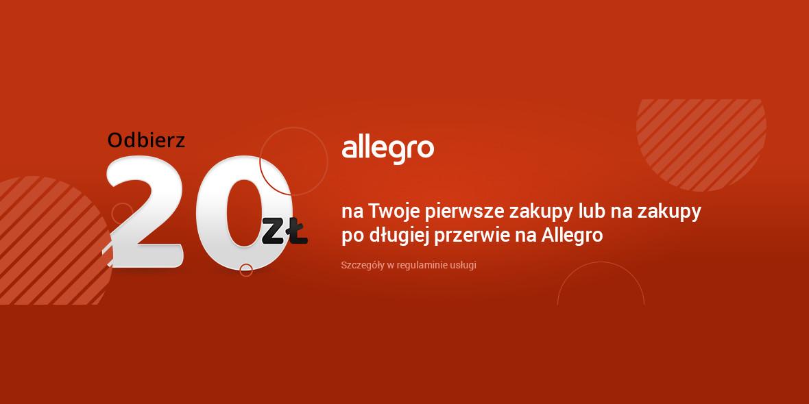 Allegro.pl: Kupon 20 zł na Twoje zakupy 18.01.2021