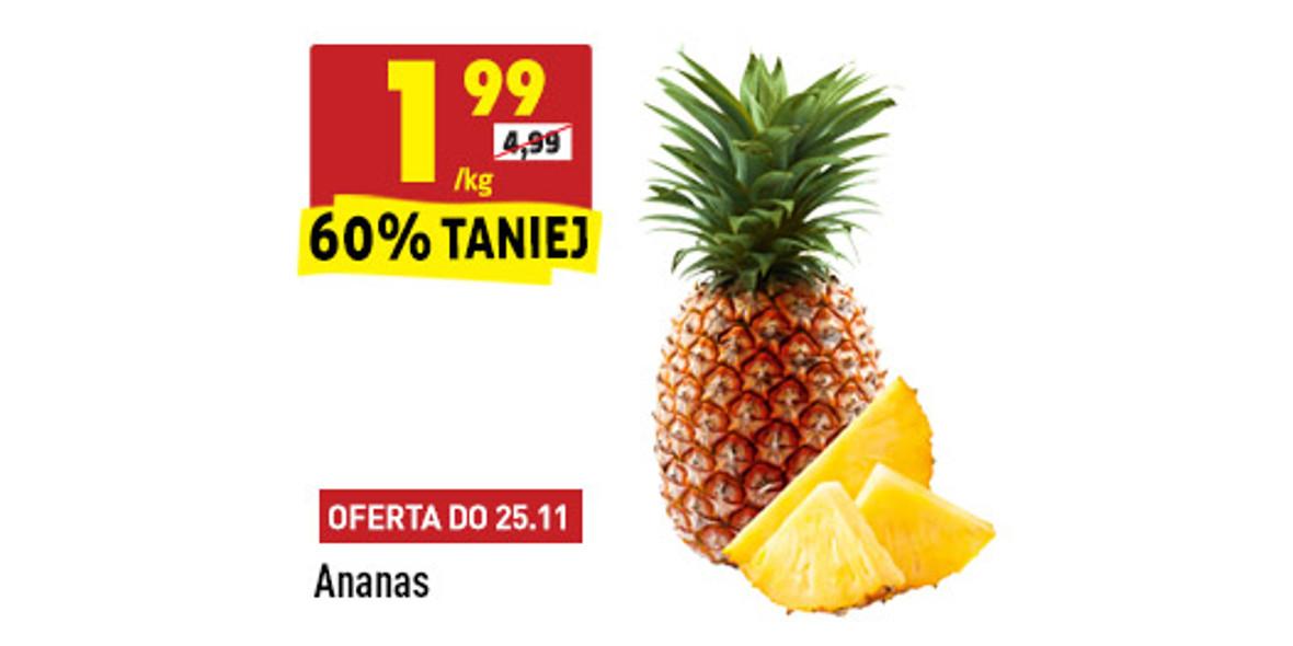Biedronka: -60% na ananasa 23.11.2020