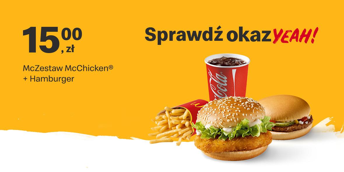 McZestaw McChicken® + Hamburger