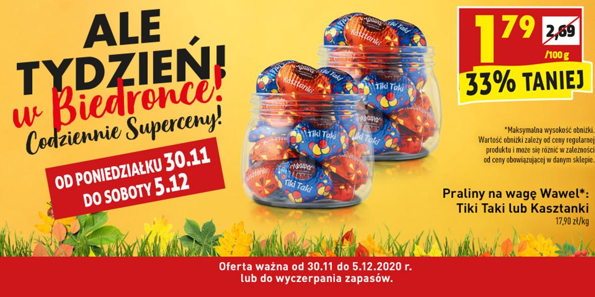 Biedronka: -33% na praliny na wagę Wawel 30.11.2020