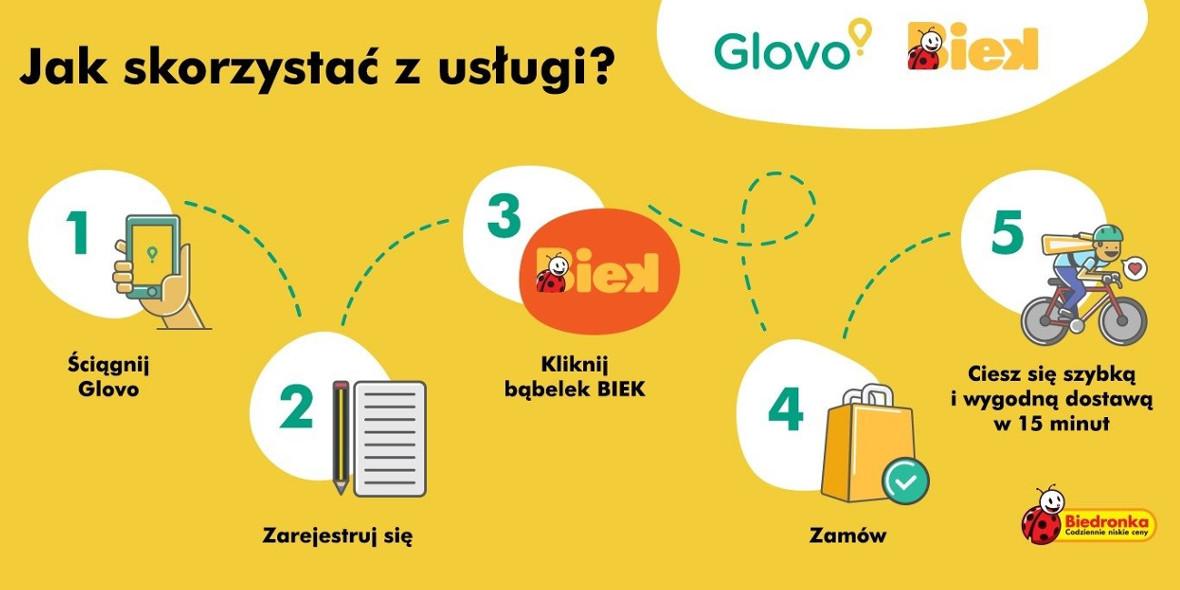 Glovo: BIEK ultra szybka dostawa Twoich zakupów 15.10.2021
