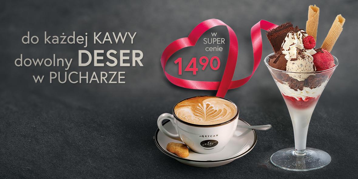 Grycan: 14,90 zł za dowolny deser lodowy do każdej kawy! 21.06.2021
