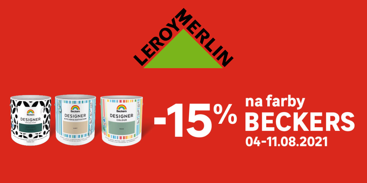 Leroy Merlin: -15% na farby Beckers 04.08.2021