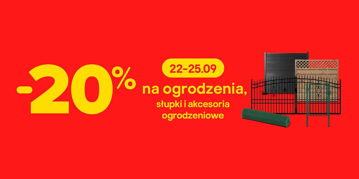 Castorama: -20% na ogrodzenia, słupki i akcesoria ogrodzeniowe 22.09.2021