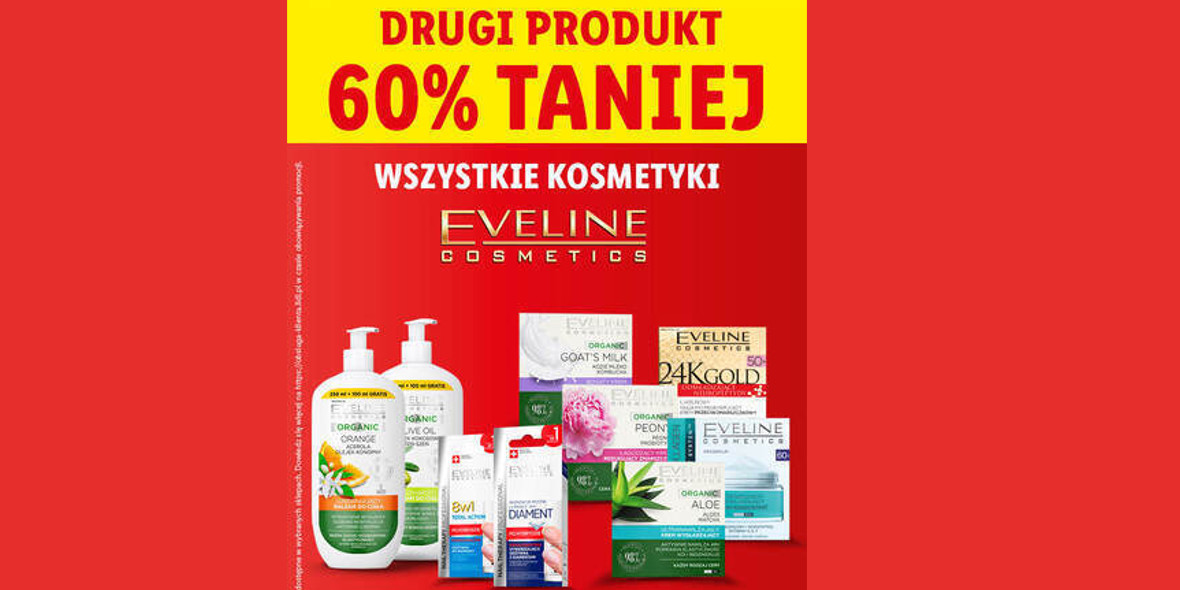 Lidl: -60% na wszystkie kosmetyki Eveline Cosmetics 20.09.2021