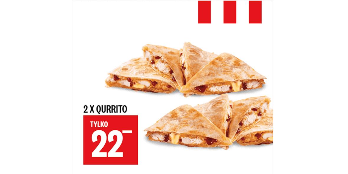 KFC: 22 zł 2 x Qurrito 30.12.2020