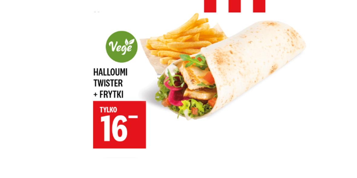 KFC: 16 zł za Halloumi Twister + Frytki 01.01.0001