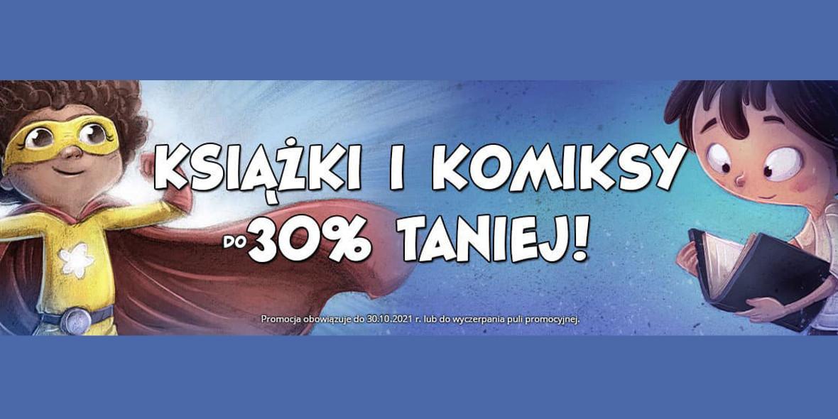 Egmont.pl:  Do  -30% na książki i komiksy 25.10.2021