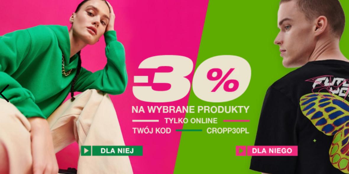 Cropp:  Kod: -30% na wybrane produkty 25.10.2021