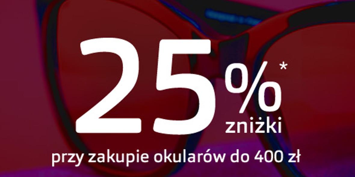 Vision Express: -25% przy zakupie okularów do 400 zł 01.10.2021