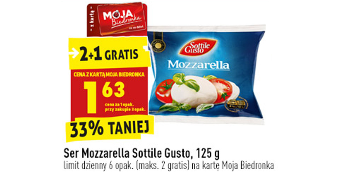 Biedronka: -33% na ser Mozzarella 19.04.2021