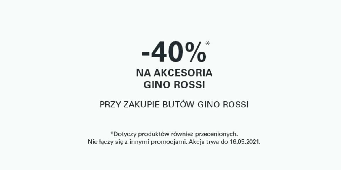 CCC: -40% na akcesoria Gino Rossi 10.05.2021
