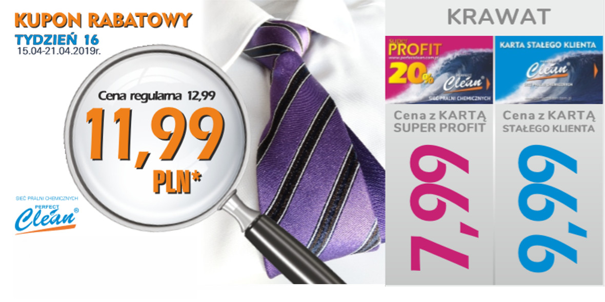 za wypranie krawatu