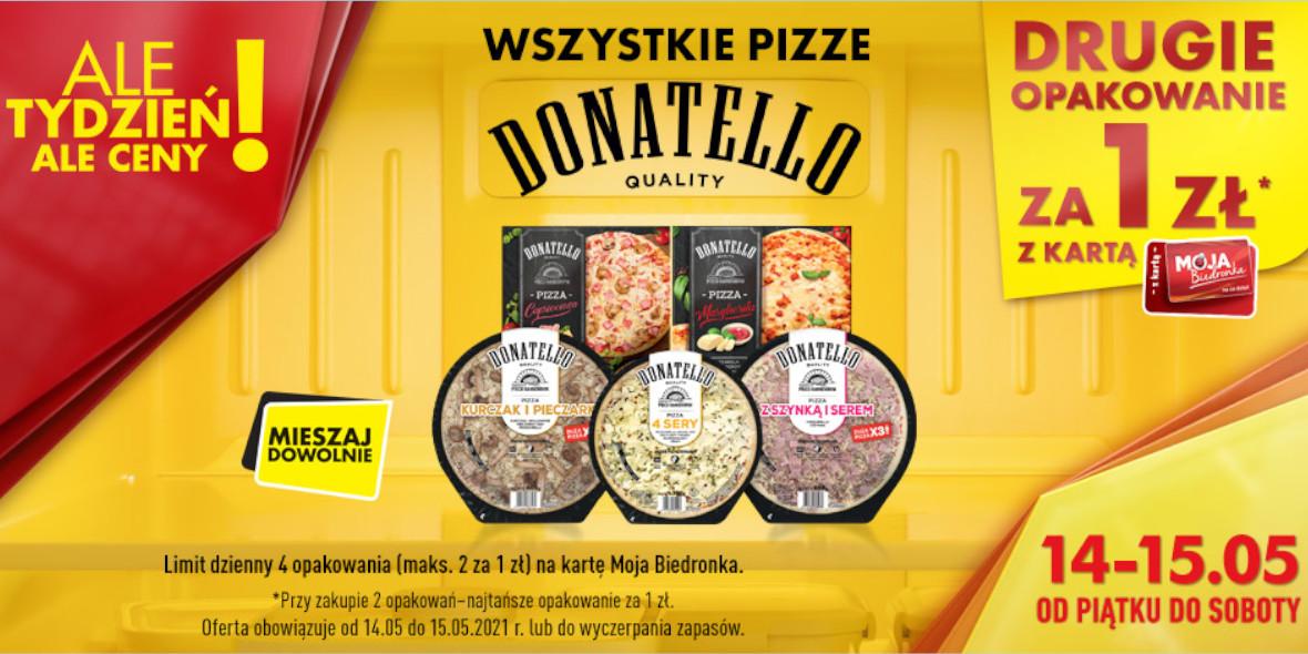 Biedronka: 1 zł za drugie opakowanie pizzy 14.05.2021