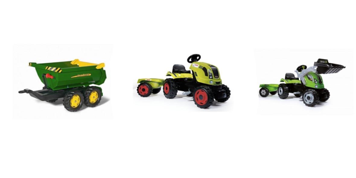 na wszystkie traktory Smoby i Rolly Toys