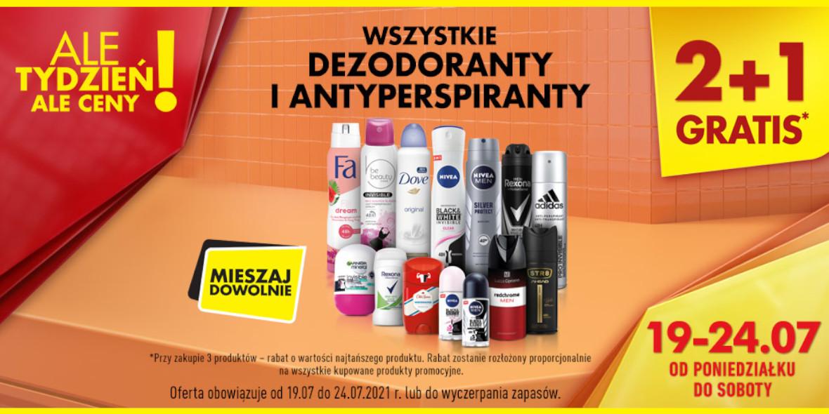 Biedronka: 2 + 1 na wszystkie dezodoranty i antyperspiranty 19.07.2021