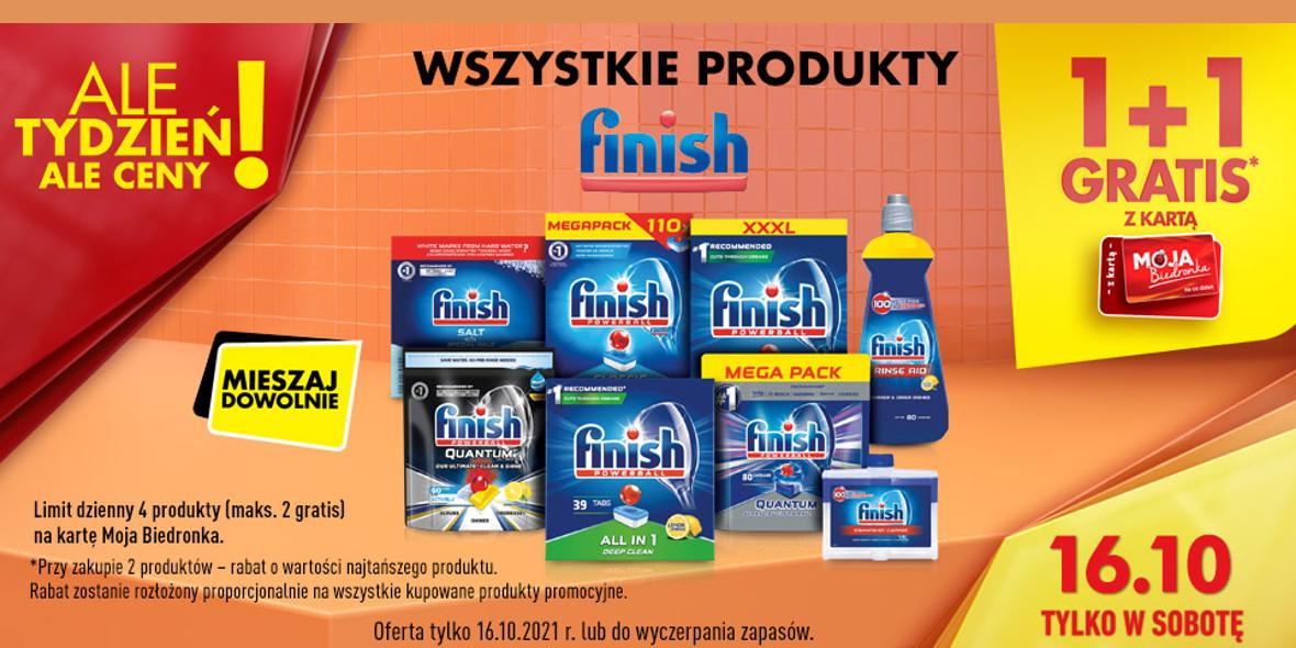 Biedronka: 1 + 1 na wszystkie produkty Finish 16.10.2021