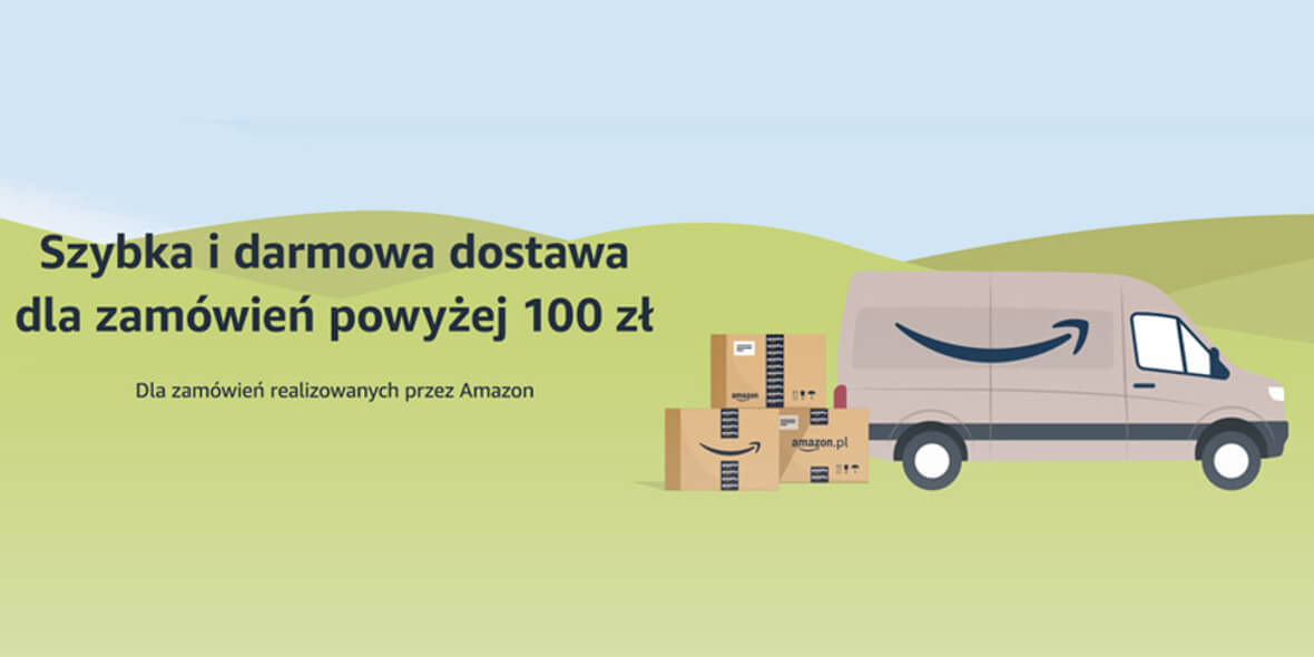Amazon:  Darmowa dostawa dla zamówień powyżej 100 zł 02.03.2021