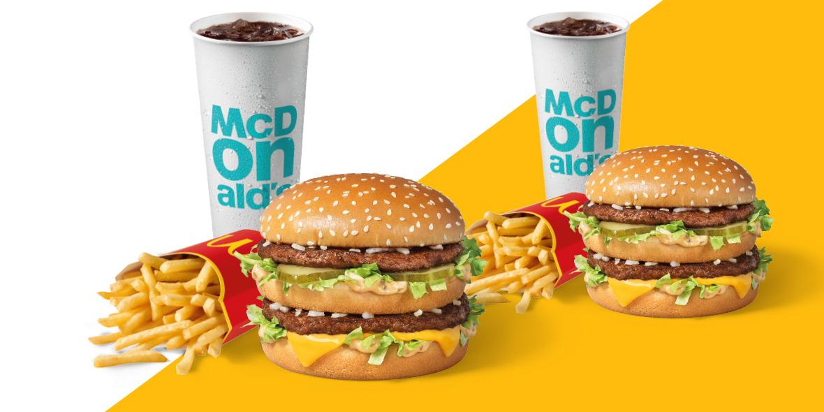 za 2 x McZestaw Powiększony w McDonald's