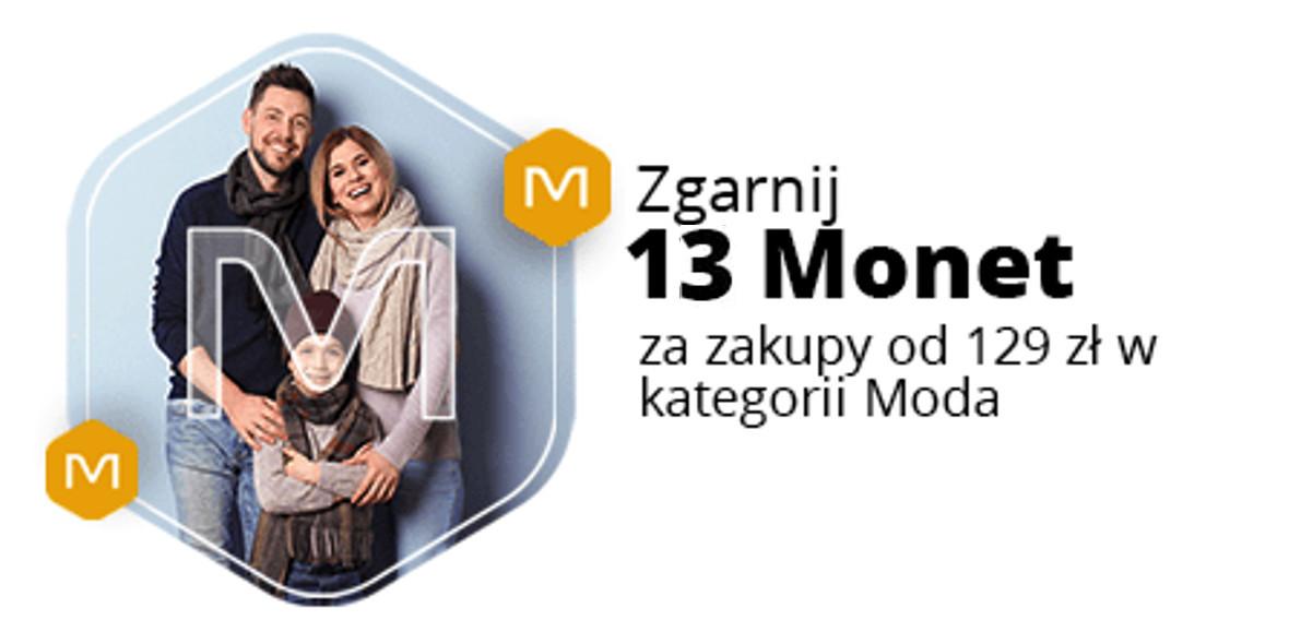 Allegro.pl: +13 Monet przy zakupach od 139 zł w kategorii Moda 18.04.2021