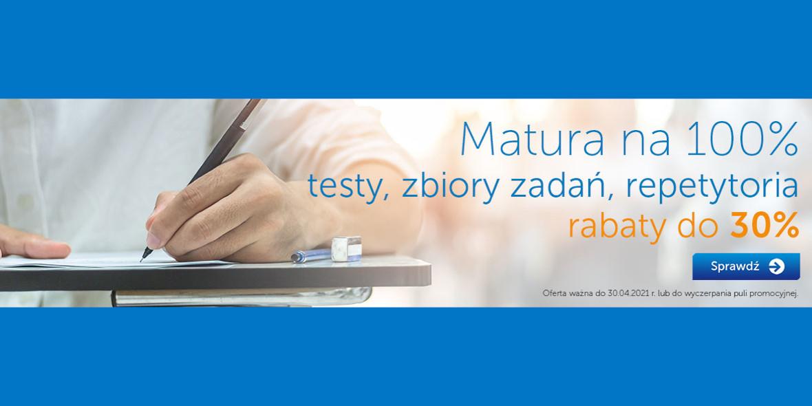 Księgarnia Internetowa PWN: Do -30% na testy, zbiory zadań, repetytoria 11.03.2021