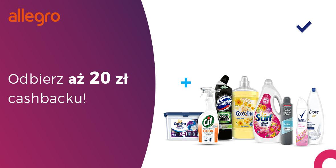Allegro: Zwrot 20 zł za zakupy w Oficjalnym Sklepie Unilever 06.09.2021