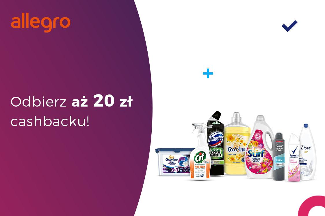 : Zwrot 20 zł za zakupy w Oficjalnym Sklepie Unilever