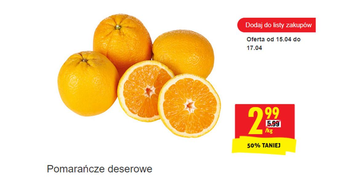 Biedronka:  -50% na pomarańcze deserowe 15.04.2021