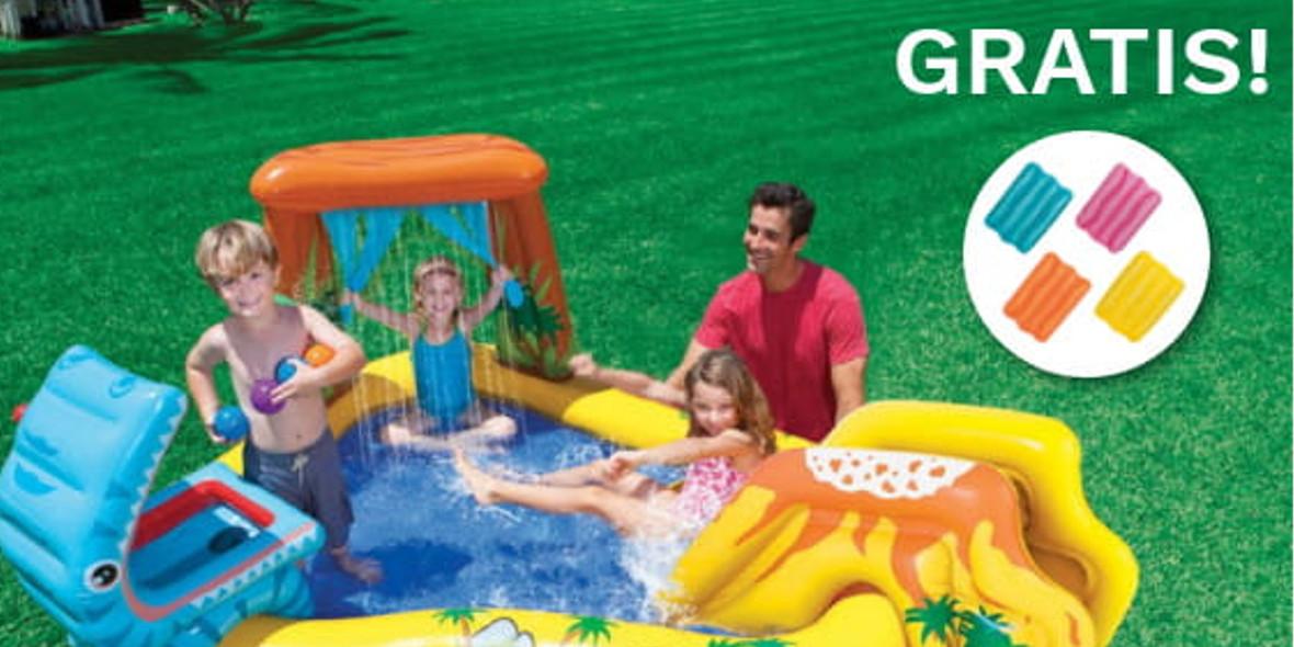 wodny plac zabaw + poduszka dmuchana GRATIS