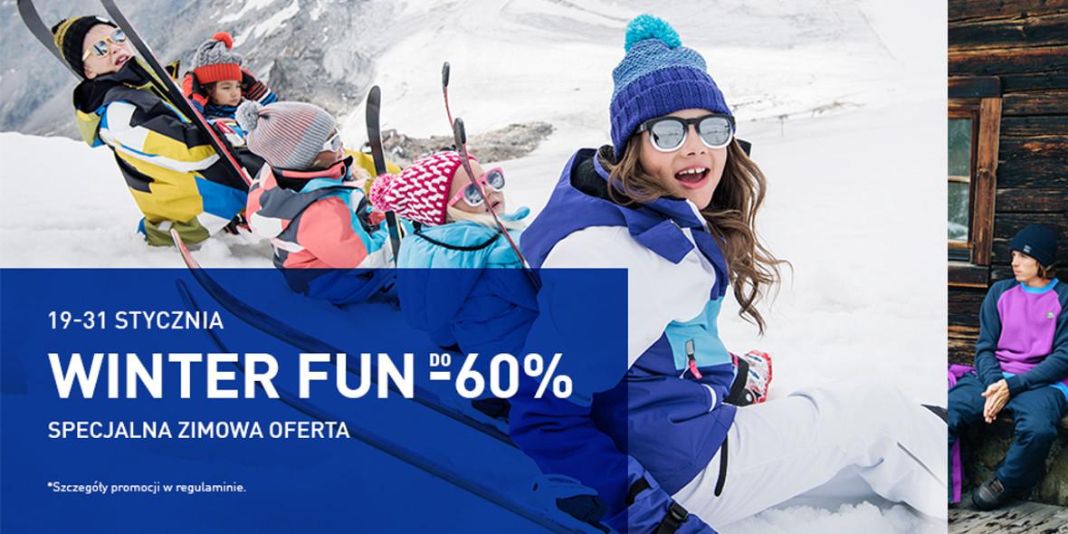 Intersport: Do -60% na odzież i obuwie zimowe 20.01.2021
