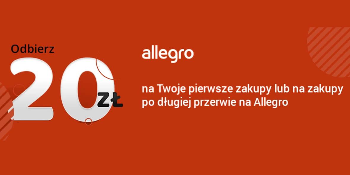 Allegro.pl: Kupon -20 zł dla nowych lub powracających użytkowników 10.05.2021
