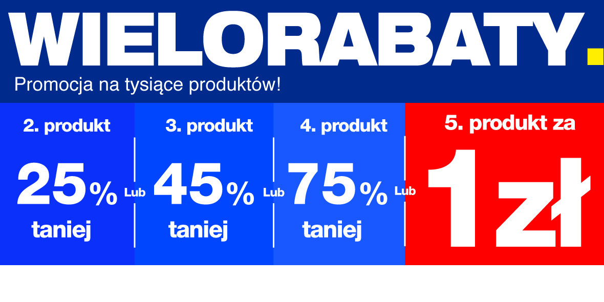 RTV EURO AGD: Do -75% lub piąty produkt za 1 zł 12.05.2021