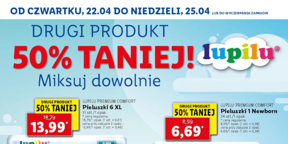 Lidl: -50% na drugi produkt Lupilu 22.04.2021