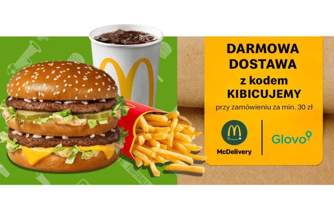 McDonald's:  Darmowa dostawa z kodem