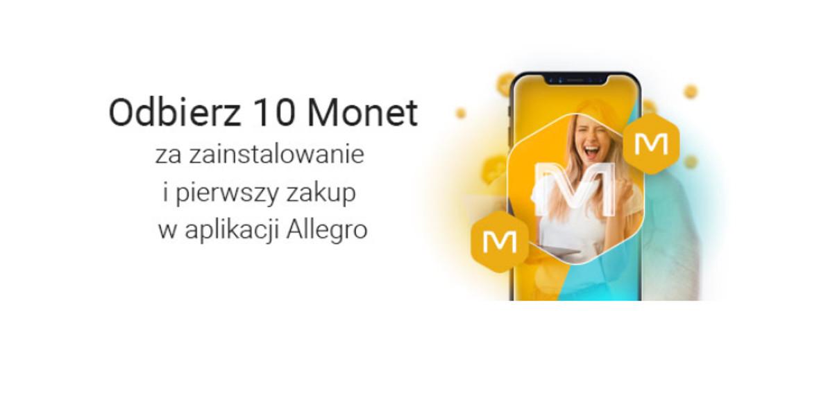 Allegro.pl: +10 Monet za zainstalowanie i pierwszy zakup w ap. Allegro 02.01.2021