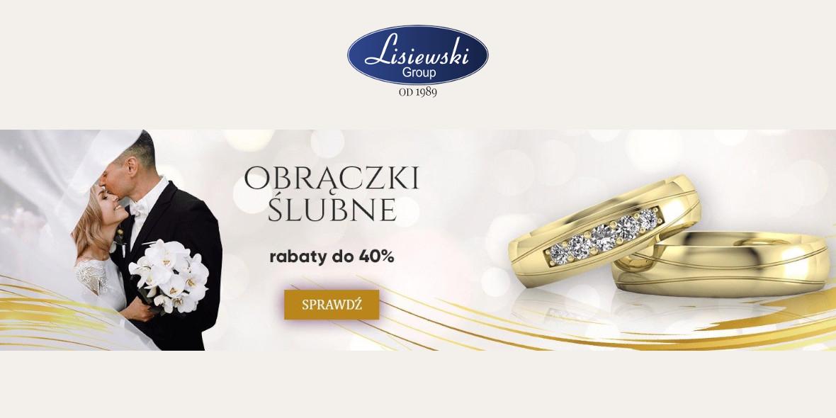 Biżuteria Lisiewski: Do -40% na obrączki ślubne