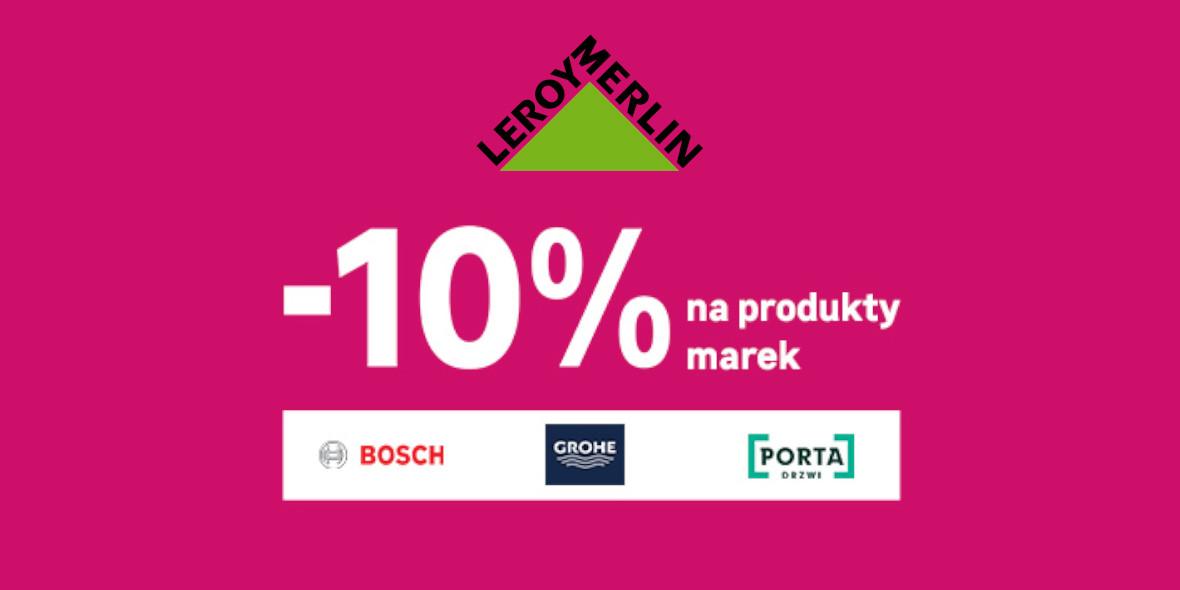 Leroy Merlin: -10% na produkty wybranych marek