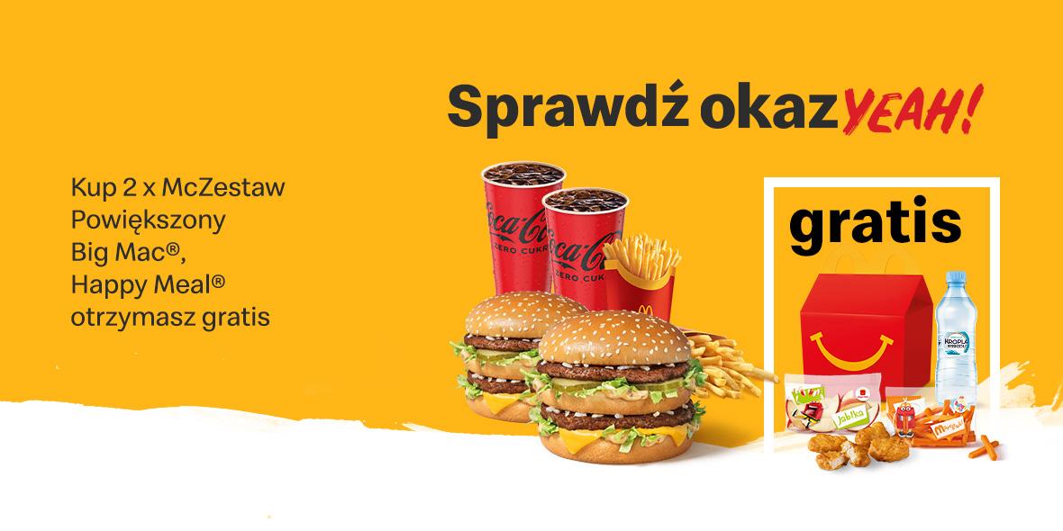 McDonald's:  Gratis Happy Meal® 20.09.2021