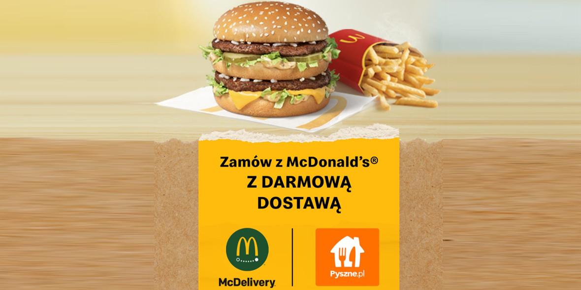 Pyszne.pl:  Darmowa dostawa z McDonald's® 14.04.2021