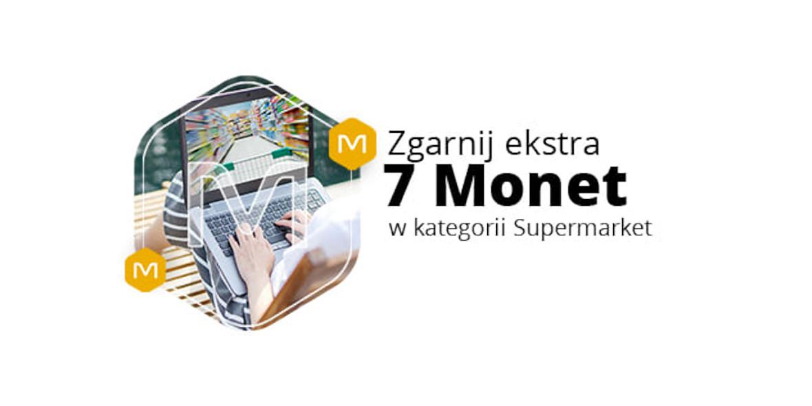 Allegro.pl: +7 Monet przy zakupach z działu Supermarket 18.01.2021